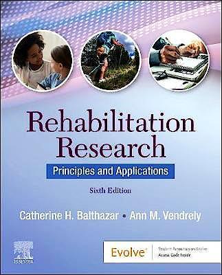Portada del libro 9780323680431 Rehabilitation Research