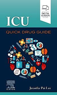 Portada del libro 9780323680479 ICU Quick Drug Guide