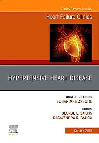 Portada del libro 9780323681230 Hypertensive Heart Disease (An Issue of Heart Failure Clinics)