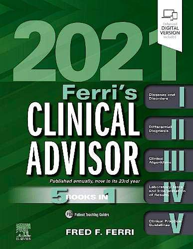Portada del libro 9780323713337 Ferri's Clinical Advisor 2021. 5 Books in 1