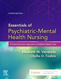 Portada del libro 9780323749633 Essentials of Psychiatric Mental Health Nursing. A Communication Approach to Evidence-Based Care
