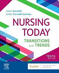 Portada del libro 9780323749725 Nursing Today. Transition and Trends