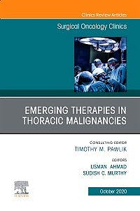 Portada del libro 9780323759410 Emerging Therapies in Thoracic Malignancies (An Issue of Surgical Oncology Clinics)
