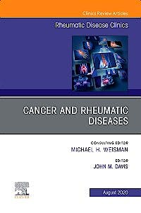 Portada del libro 9780323761260 Cancer and Rheumatic Diseases (An Issue of Rheumatic Disease Clinics) POD