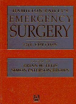 Portada del libro 9780340763803 Hamilton Bailey's Emergency Surgery