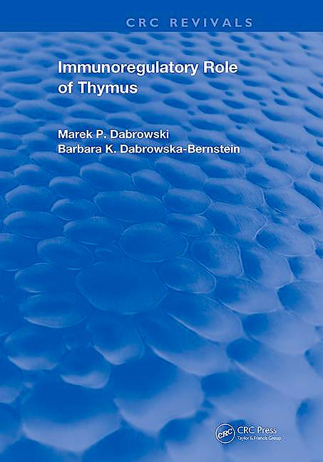 Portada del libro 9780367220891 Immunoregulatory Role of Thymus (CRC Revivals)