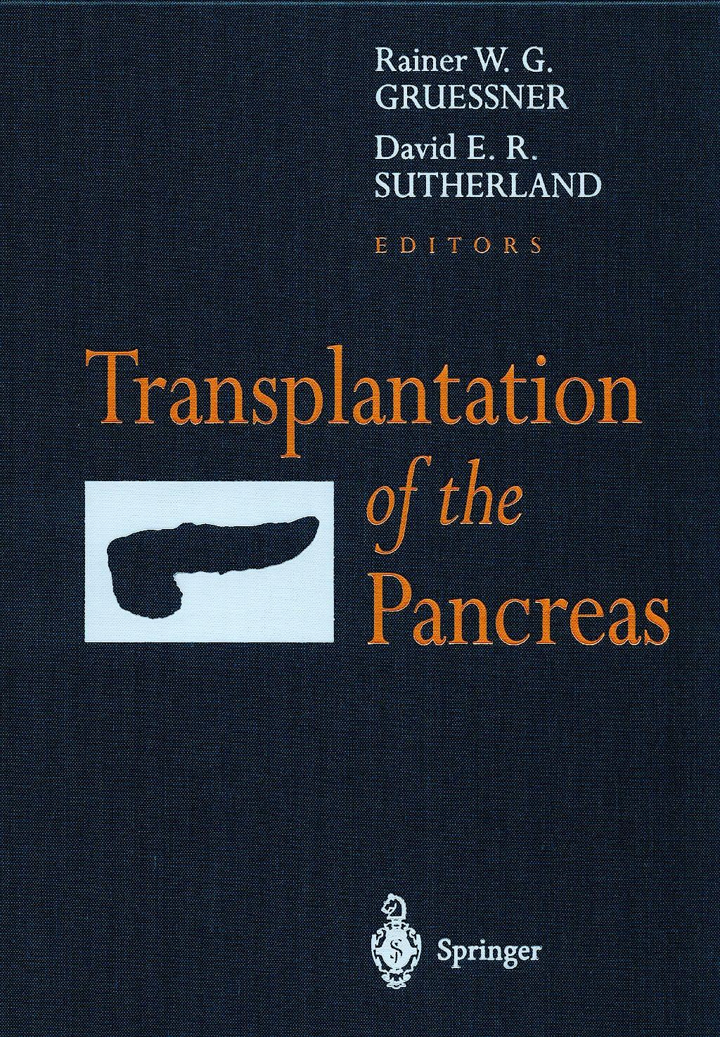 Portada del libro 9780387005898 Transplantation of the Pancreas