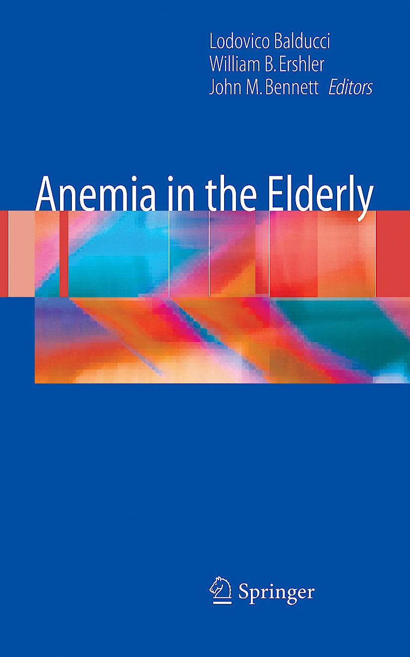 Portada del libro 9780387495057 Anemia in the Elderly (Hardcover)