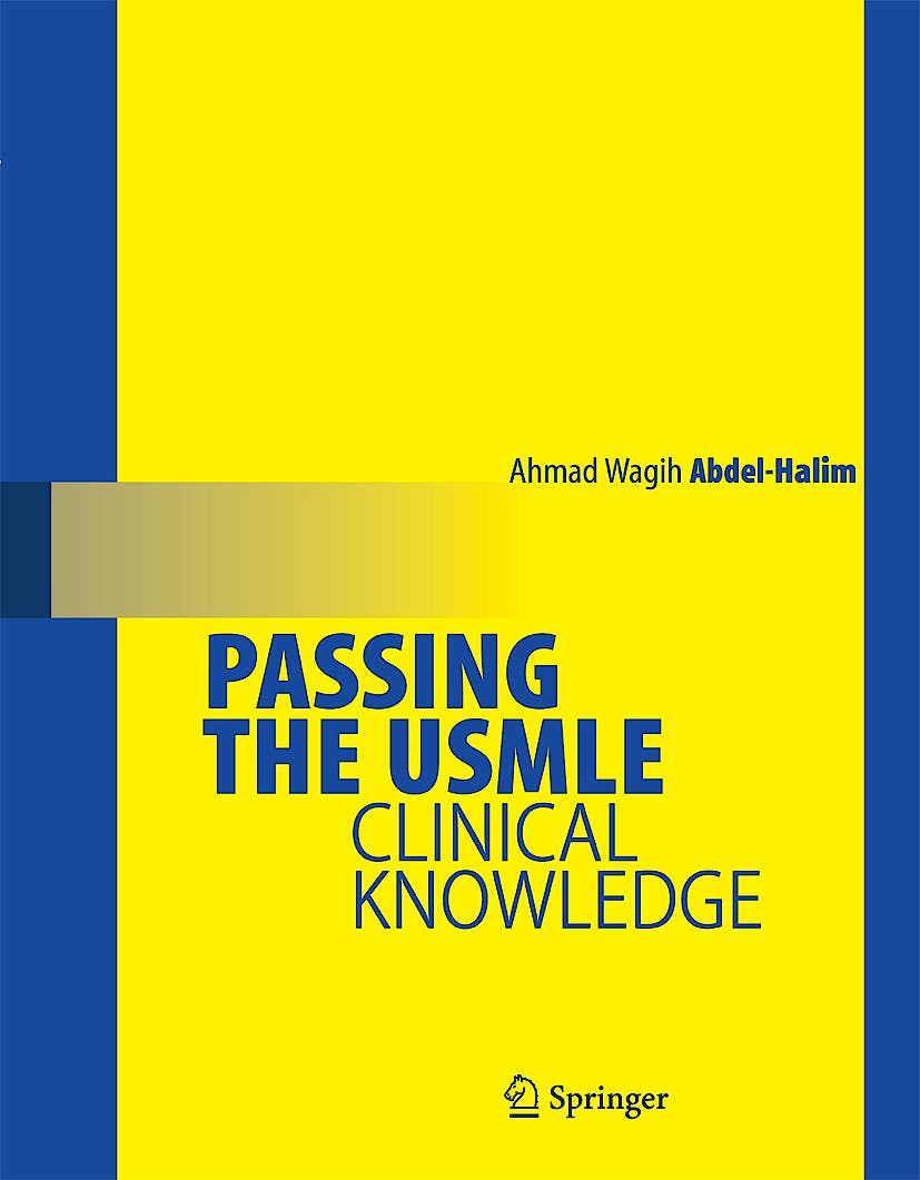 Portada del libro 9780387689838 Passing the  Usmle. Clinical Knowledge