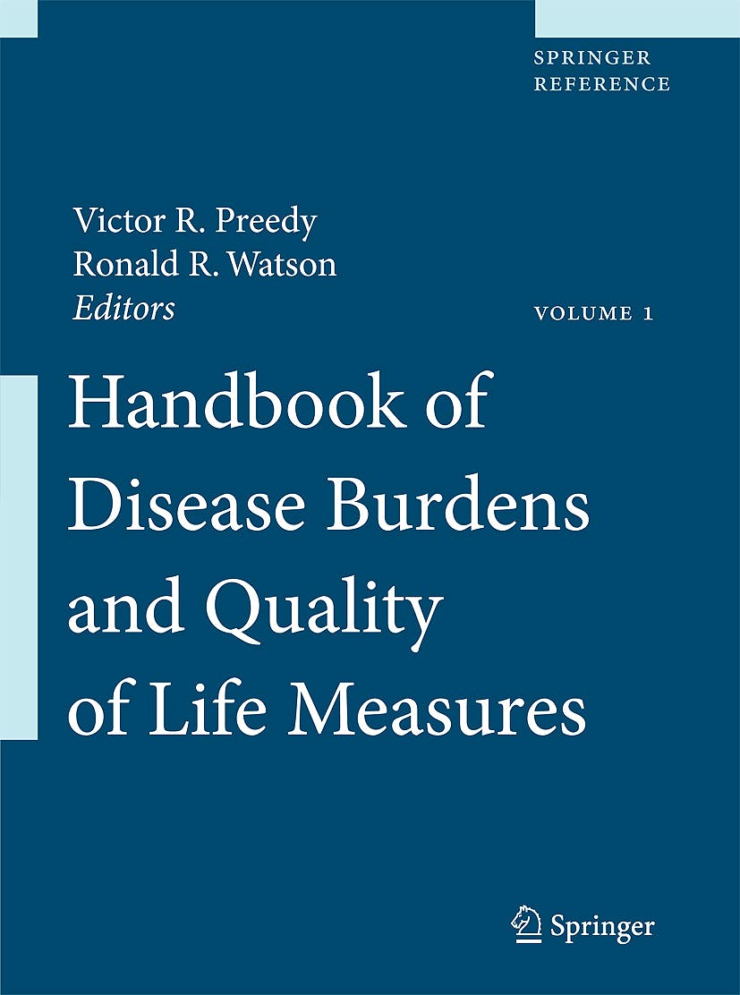 Portada del libro 9780387786643 Handbook of Disease Burdens and Quality of Life Measures, 3 Vols.