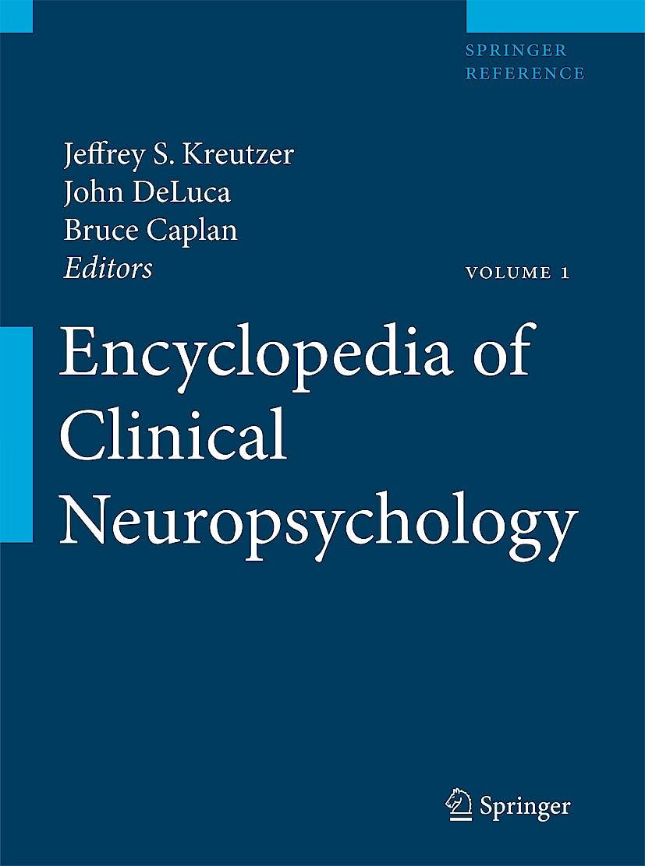 Portada del libro 9780387799490 Encyclopedia of Clinical Neuropsychology, 4 Vols. + Online Access