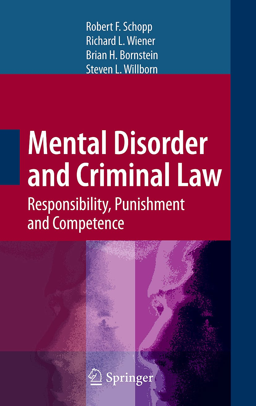 Portada del libro 9780387848440 Mental Disorder and Criminal Law