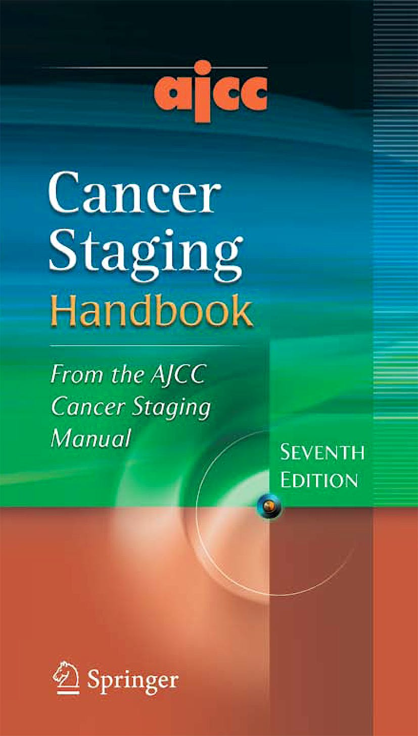 Portada del libro 9780387884424 AJCC Cancer Staging Handbook. From the AJCC Cancer Staging Manual