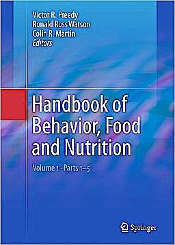Portada del libro 9780387922706 Handbook of Behavior, Food and Nutrition, 5 Vols.