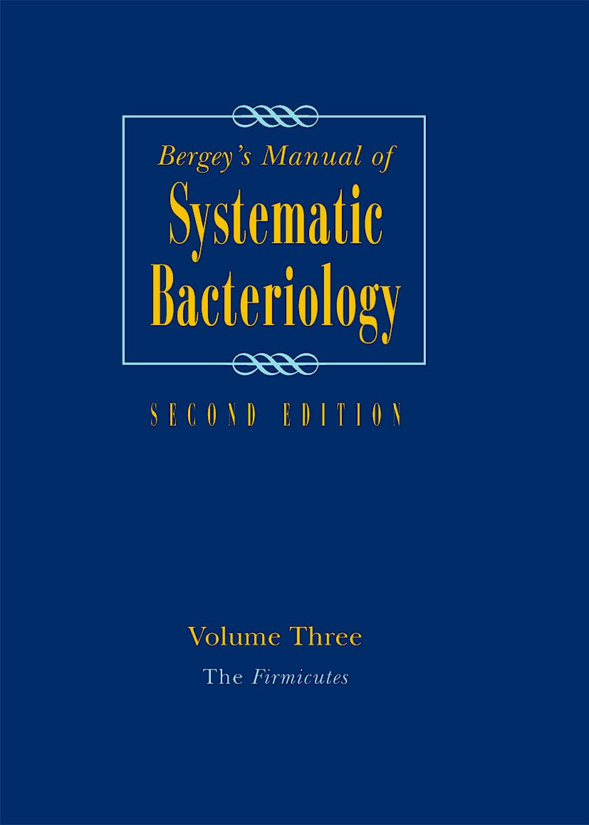 Portada del libro 9780387950419 Bergey's Manual of Systematic Bacteriology, Vol. 3: The Firmicutes
