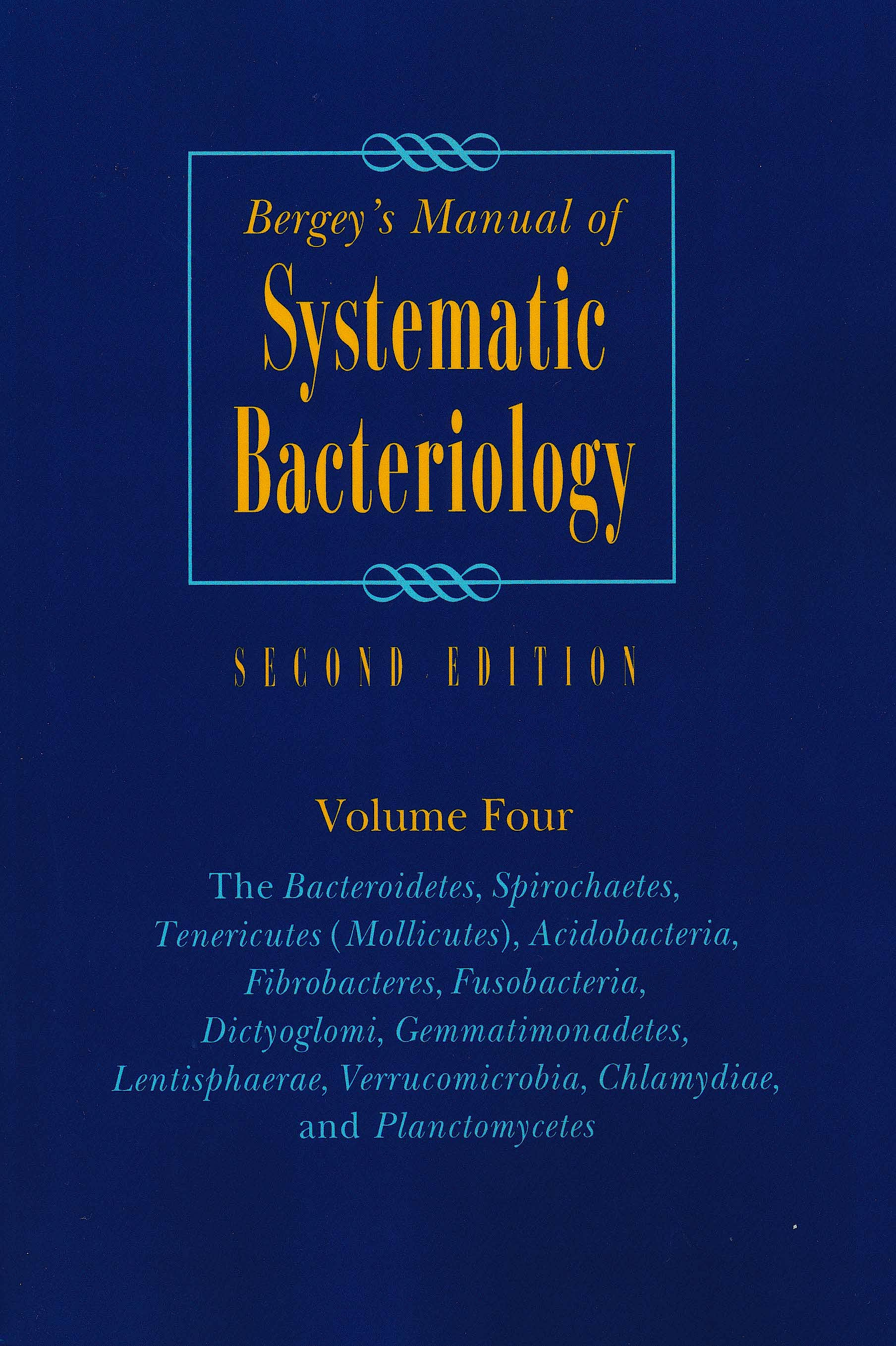 Portada del libro 9780387950426 Bergey's Manual of Systematic Bacteriology, Vol. 4
