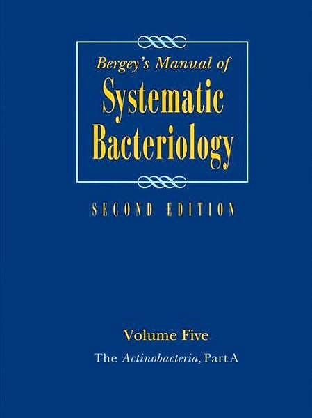 Portada del libro 9780387950433 Bergey's Manual of Systematic Bacteriology, Vol. 5: The Actinobacteria, Part a & B