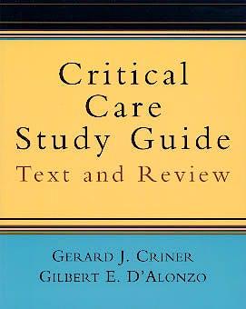 Portada del libro 9780387951645 Critical Care Study Guide. Text and Review
