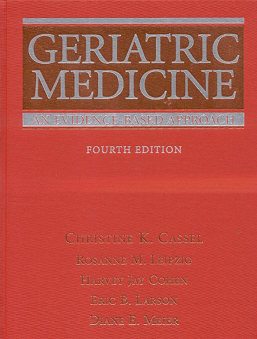 Portada del libro 9780387955148 Geriatric Medicine an Evidence-Based Approach