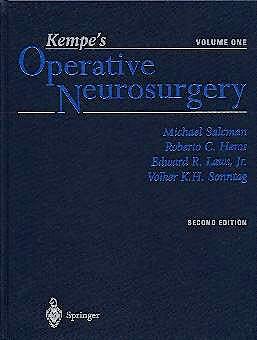 Portada del libro 9780387985374 Kempe's Operative Neurosurgery, Vol. 1: Cranial, Cerebral, and Intracranial Vascular Disease