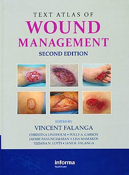 Portada del libro 9780415468657 Text Atlas of Wound Management
