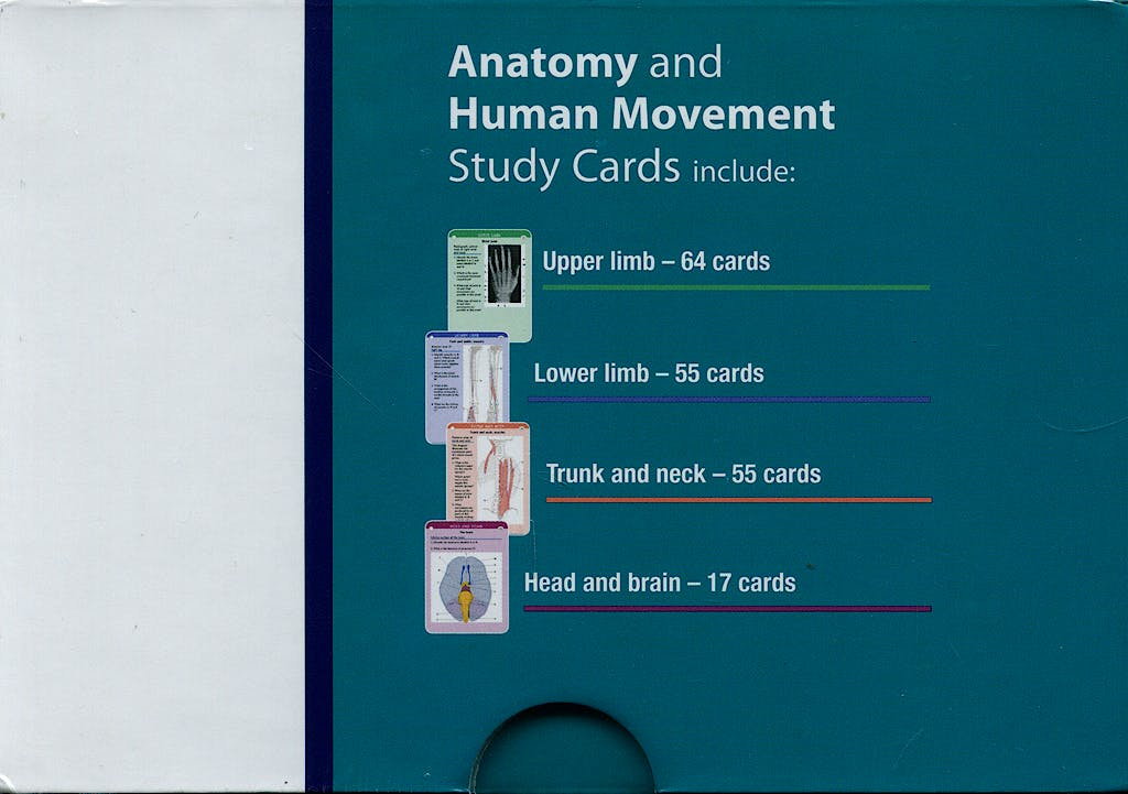 Portada del libro 9780443069130 Anatomy and Human Movement Study Cards