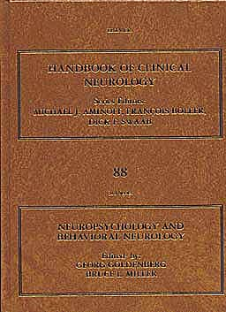 Portada del libro 9780444518972 Handbook of Clinical Neurology, Vol. 88: Neuropsychology and Behavioral Neurology