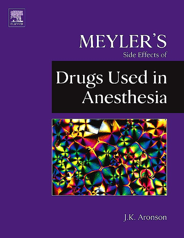 Portada del libro 9780444532701 Meyler's Side Effects of Drugs Used in Anesthesia