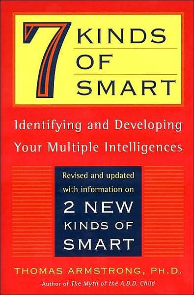 Portada del libro 9780452281370 Seven Kinds of Smart. Identifying and Developing Your Multiple Intelligences