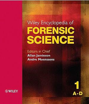 Portada del libro 9780470018262 Wiley Encyclopedia of Forensic Science, 5 Vols. Set)