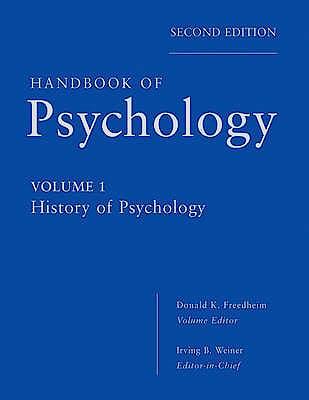Portada del libro 9780470619018 Handbook of Psychology, Vol. 1: History of Psychology