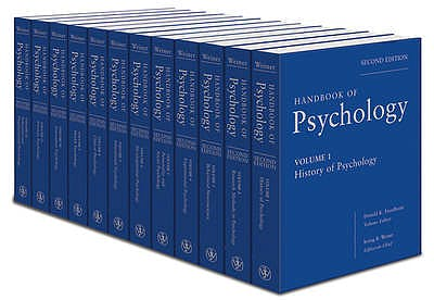 Portada del libro 9780470619049 Handbook of Psychology, 12 Vols.