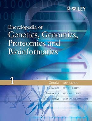 Portada del libro 9780470849743 Encyclopedia of Genetics, Genomics, Proteomics and Bioinformatics
