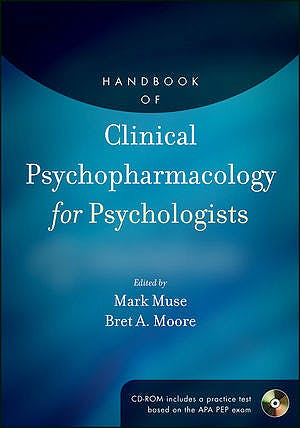 Portada del libro 9780470907573 Handbook of Clinical Psychopharmacology for Psychologists + Cd