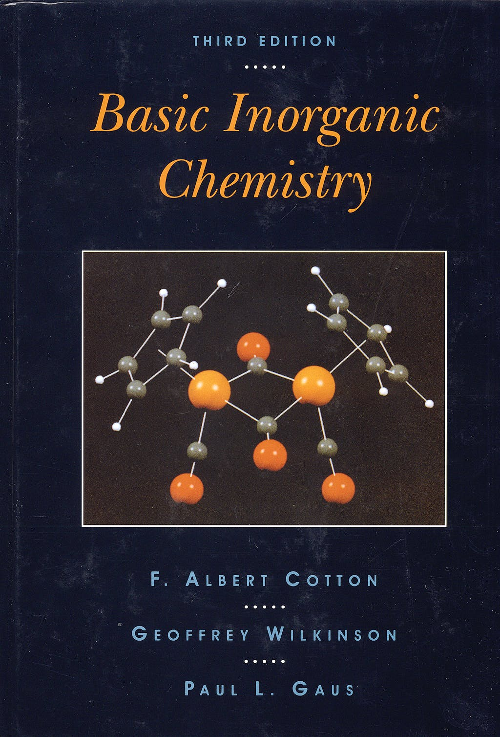 Portada del libro 9780471505327 Basic Inorganic Chemistry (Hardcover)