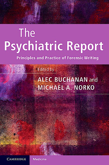 Portada del libro 9780521131841 The Psychiatric Report
