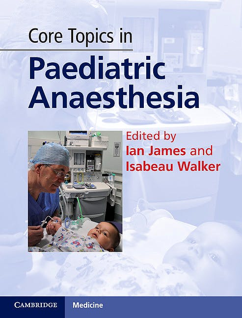 Portada del libro 9780521194174 Core Topics in Paediatric Anaesthesia
