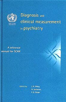 Portada del libro 9780521434775 Diagnosis and Clinical Measurement in Psychiatry a Reference Man. Scan