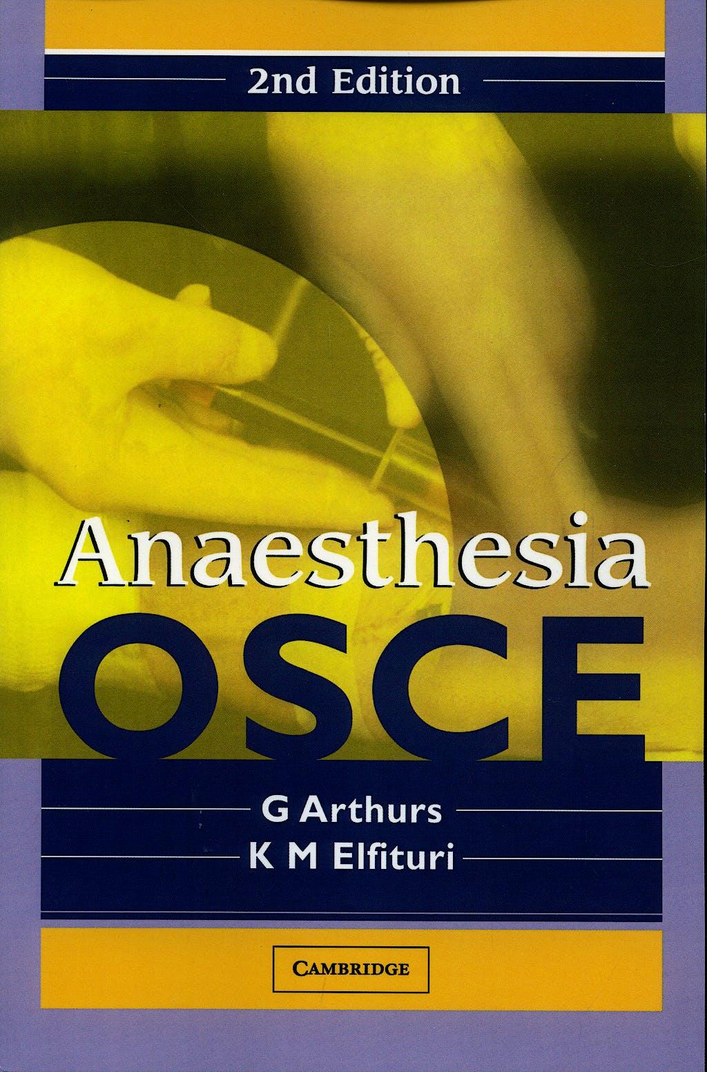 Portada del libro 9780521681827 Anaesthesia Osce