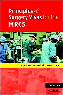 Portada del libro 9780521699037 Principles of Surgery Vivas for the Mrcs