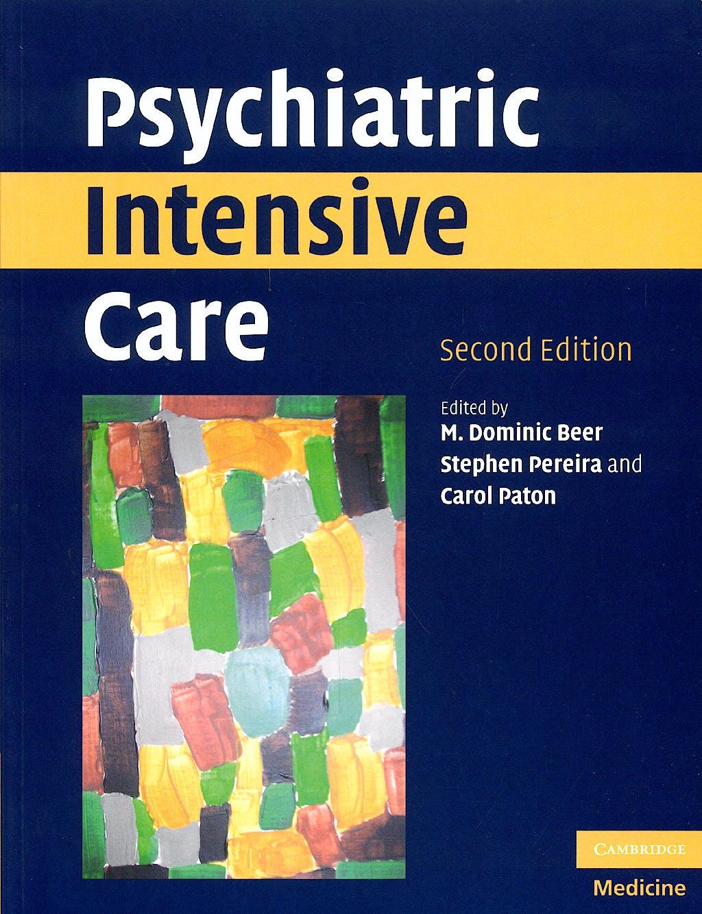 Portada del libro 9780521709262 Psychiatric Intensive Care