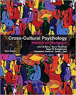 Portada del libro 9780521745208 Cross-Cultural Psychology. Research and Applications