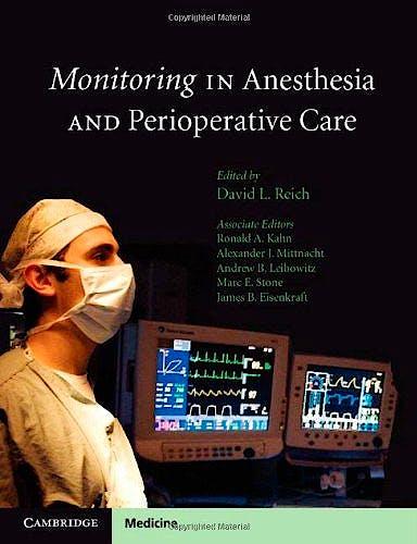 Portada del libro 9780521755986 Monitoring in Anesthesia and Perioperative Care