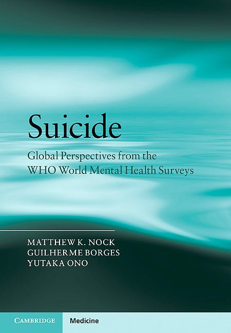Portada del libro 9780521765008 Suicide. Global Perspectives from the Who World Mental Health Surveys
