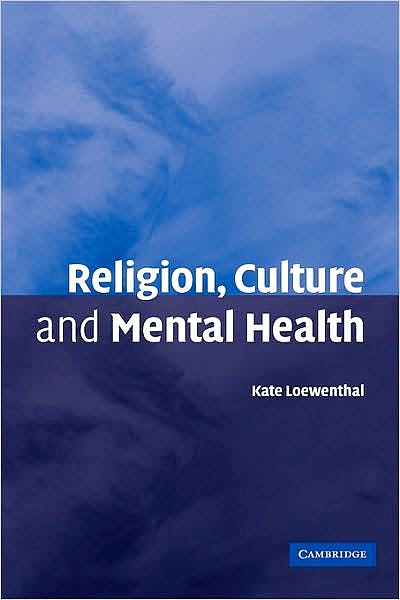 Portada del libro 9780521850230 Religion, Culture and Mental Health