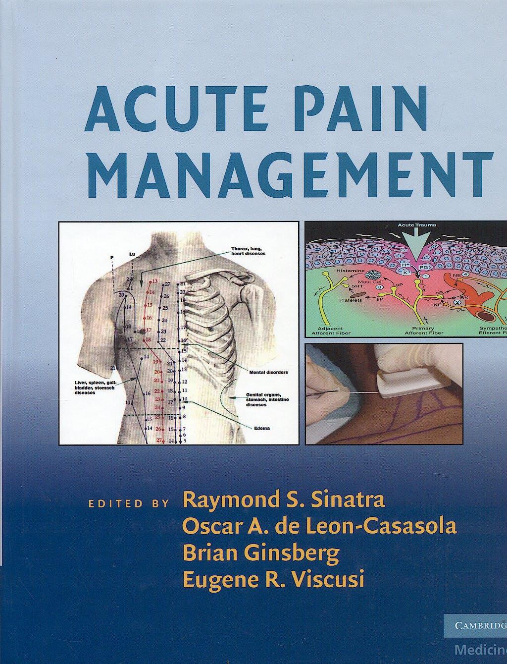 Portada del libro 9780521874915 Acute Pain Management