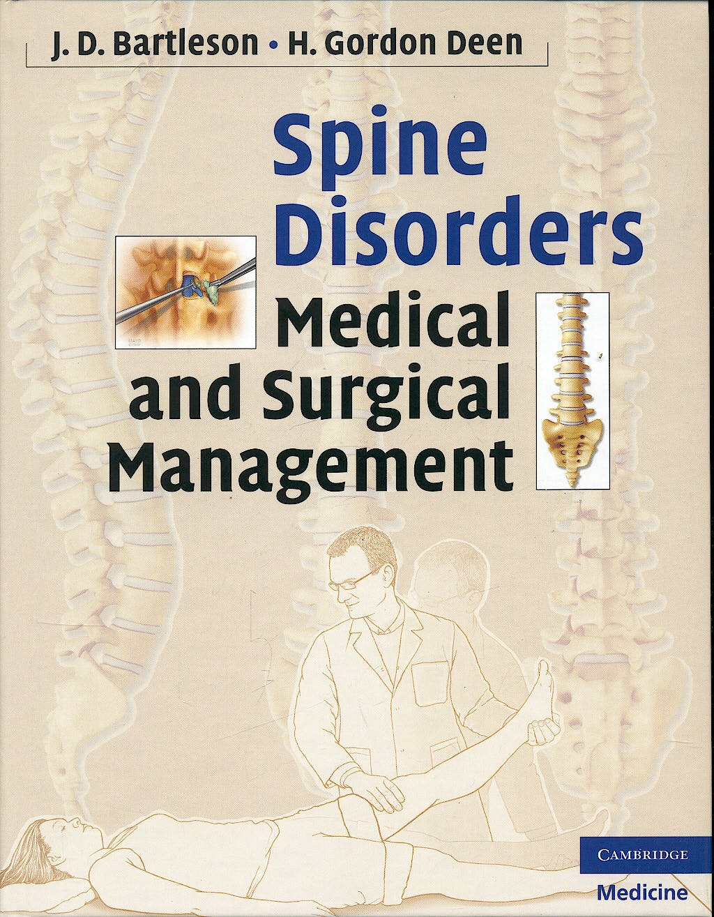 Portada del libro 9780521889414 Spine Disorders. Medical and Surgical Management