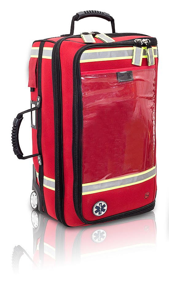 Maletín Trolley Vertical de Emergencias Modelo EMERAIR'S TROLLEY EB02.025, Color Rojo
