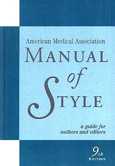 Portada del libro 9780683402063 a.m.a. Manual of Style