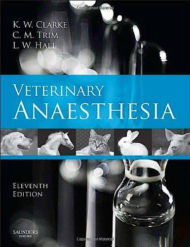 Portada del libro 9780702027932 Veterinary Anaesthesia